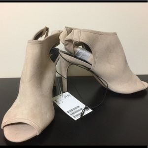 H&M Shoes - Cream suede heels by H&M